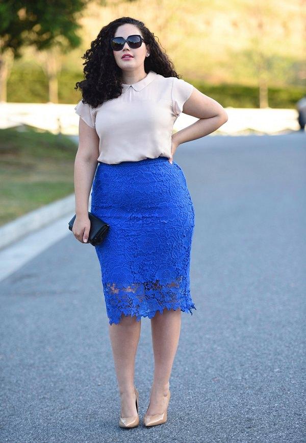 astuces pour porter une jupe crayon pour les femmes grandes tailles afin de paraître plus mince